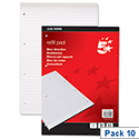 A4 Refill Pad (Pack 10) 4 Hole Punched 80 Sheets Pack 10 5 Star