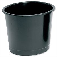 5 Star Office Waste Desk Bin Polypropylene 14 Litres D254xH304mm Black