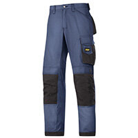 """Snickers 3313 Craftsman Trousers Rip-Stop Navy/Black Waist 30"""" Inside leg 30"""" Size 84"""