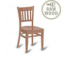 Eton Solid Beech Side Chair Raw Unfinished Natural Wood 332220
