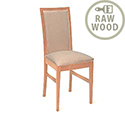 Stowe Solid Raw Beech Wood Side Chair Unfinished 332562