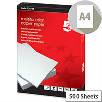 5 Star Multifunctional Printer Paper 80gsm White 500 Sheets