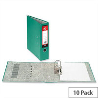 5 Star Office Lever Arch File 70mm Foolscap Green Pack 10