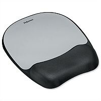 Fellowes Non-skid Mouse Pad Memory Foam Silver