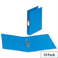 PVC Ring Binder A4 Blue 2 O-Ring Size 25mm Pack 10 5 Star