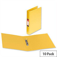 PVC Ring Binder A4 Yellow 2 O-Ring Size 25mm Pack 10 5 Star
