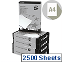 A4 Smooth White 80gsm Premium Copier Paper Box of 2500 Sheets 5 Star