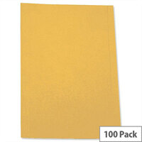 Square-cut Folder Pre-punched Foolscap Yellow Pack 100 5 Star