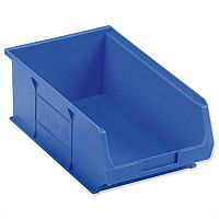 TC4 Container Bin Heavy Duty Polypropylene W350xD205xH132mm Blue Pack 10