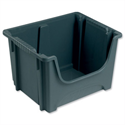 Stackable Storage Bin 50 Litres Grey
