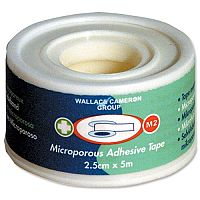 Wallace Cameron 25mmx5m Microporous Tape for Securing Dressing Pads W25mmxL5m