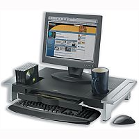 Fellowes Office Suites Monitor Riser Large Height-Adjustable with Storage Tray