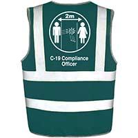 Hi Vis Vest Green Large C-19 Compliance Officer Ref: 35231-7-L