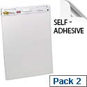 Post-it A1 Meeting Chart Self Adhesive Repositionable 30 Sheets Pack 2