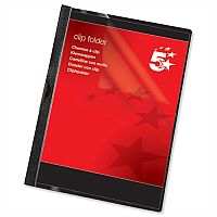 Clip Folder A4 Black Pack 25 5 Star