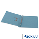 5 Star Office Transfer Spring File 315gsm 38mm Foolscap Blue Pack 50