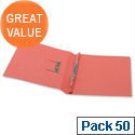 Office Transfer Spring File 315gsm 38mm Foolscap Red Pack 50