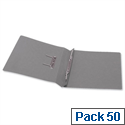 5 Star Office Transfer Spring File 315gsm 38mm Foolscap Grey Pack 50
