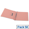 5 Star Office Transfer Spring File 315gsm 38mm Foolscap Pink Pack 50