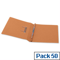 Office Transfer Spring File 315gsm 38mm Foolscap Orange Pack 50