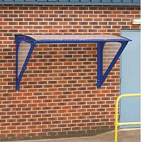 Blue Framed Wall Mounted Smoking Shelter Small