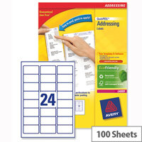 Avery L7159-100 Addressing Labels Laser 24 per Sheet 63.5x33.9mm White 2400 Labels