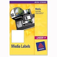 Avery 3.5 inch Disk Labels Laser 10 per Sheet 70x52mm L7666-25 250 Labels