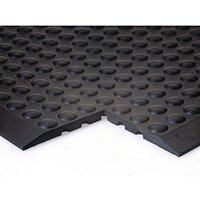 COBA Bubblemat Standing Surface End Section Mat Hard-wearing Rubber W600xD900xH14mm Black