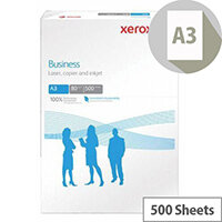 Xerox A3 Business 80gsm White Multifunctional Printer Paper Ream of 500 Sheets