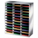 Fellowes Literature Sorter Melamine-laminated Shell 36 Compartments