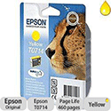 Epson T0714 Yellow Ink Cartridge Cheetah Series