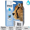 Epson T0712 Cyan Ink Cartridge Cheetah Series
