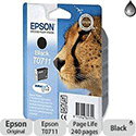 Epson T0711 Black Ink Cartridge Cheetah Series