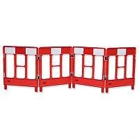 Workgate 4 Gate Barrier Lightweight Linking-clip Reflective Panel Red