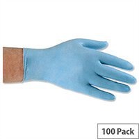 Keepsafe Nitrile Food Preparation Disposable Powder-Free Nitrile Gloves Blue Medium Box of 100
