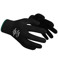 Polyco Gloves Seamless Polyurethane Palm Breathable Black Size 8 S/M-Men or L-Women Pack 12 Ref 402-MAT