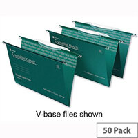 Crystalfile Classic Foolscap Suspension File With Crystal Tabs 30mm Base Pack 50