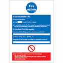 Write On Fire Action Safety Sign Stewart Superior