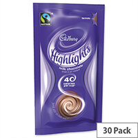 Cadbury Highlights Instant Drinking Chocolate Powder Sachets 11g (30 Pack) A03334