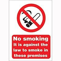 Safety Sign 210x148mm No Smoking Self-Adhesive Pack of 1 SR72080