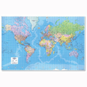 3D World Map Giant Unframed Map Marketing GWLD