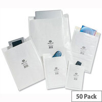 Jiffy AirKraft Size 5 Bubble Lined Bags 260x345mm White Pack of 50