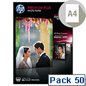 HP CR674A Premium Plus Inkjet Photo Paper A4 Glossy 300gsm 50 Sheets