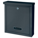 Rottner Brighton Mail Box Opening Suitable for A4 Documents W400xD155xH310mm Black T04508