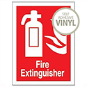 Fire Extinguisher Self Adhesive Safety Sign 200x150mm Stewart Superior