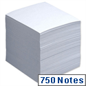 Refill Block for Noteholder Cube Approx. 750 Sheets of Paper 90x90mm White 5 Star