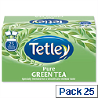 Tetley Tea Bags Pure Green Tea  Pack 25 Bags