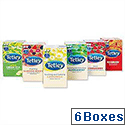 Tetley Tea Bags Fruit and Herbal Variety Pack Packed 6 Boxes of 25 Bags