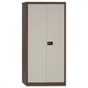 Steel Storage Cupboard 2 Doors/3 Shelves W914xD400xH1806mm Brown & Cream Trexus 395025
