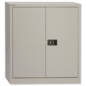 Steel Cupboard 2 Door - Grey - Trexus W914xD400xH1000mm